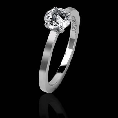Judith Solo 白18K金单钻戒指