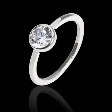 Cristina k金单颗钻石戒指