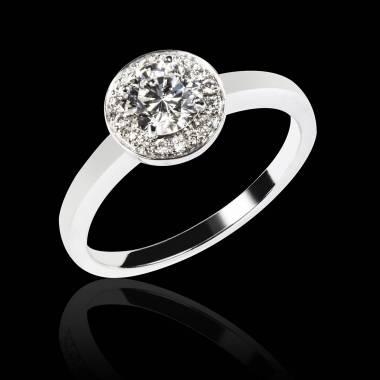 Rekha solo K金单颗密镶钻石戒指
