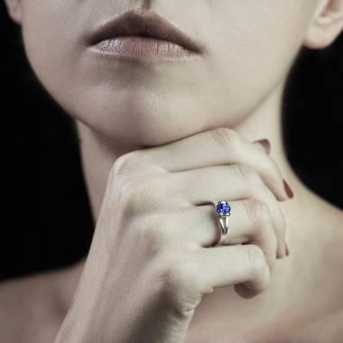 Bague saphir bleu Florine Solo