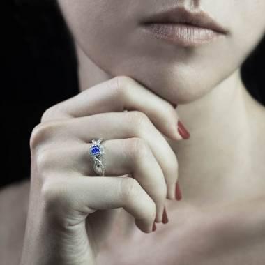 Bague saphir bleu Juliette