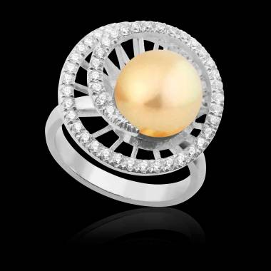 Bague perle gold Corinne