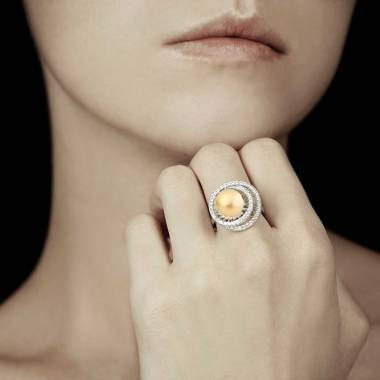 Bague perle gold Corinne