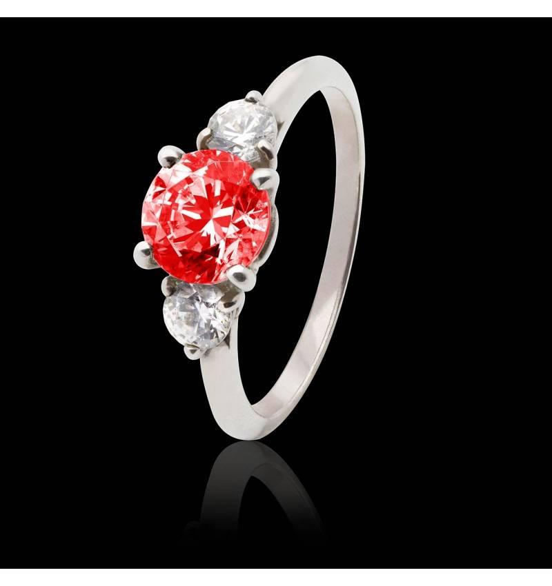 奈拉红宝石订婚戒指