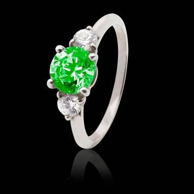奈拉 祖母绿K金订婚戒指