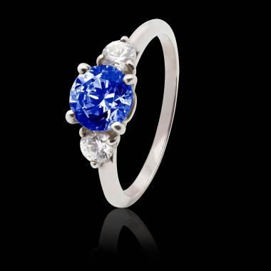 奈拉 蓝宝石K金订婚戒指