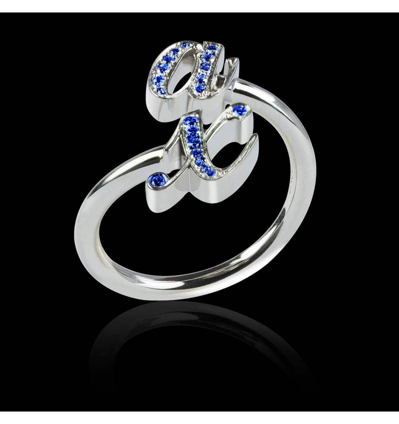 Bague saphir bleu You & Me