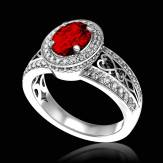 Bague Spinelle rouge Tsarine