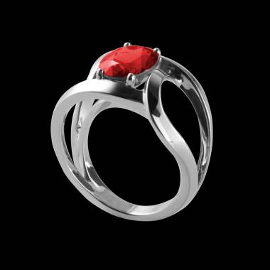 Bague Spinelle rouge Future solo