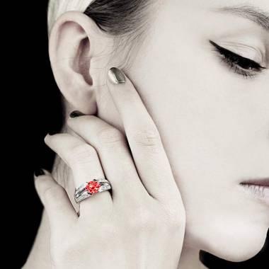 Bague Spinelle rouge Isabelle