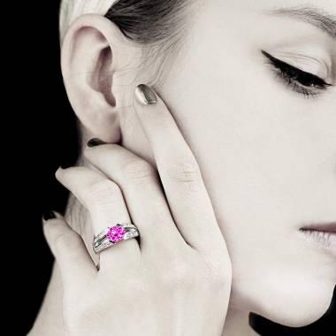 Bague Tourmaline rose Isabelle