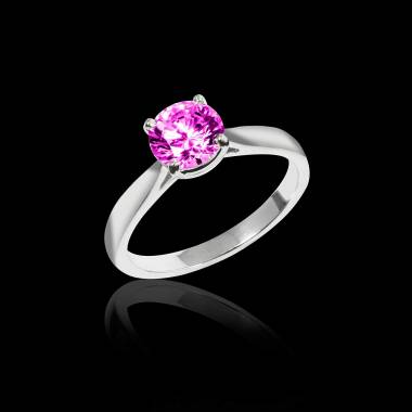 Bague Tourmaline rose Angela solo