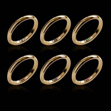 Cache K金结婚戒指