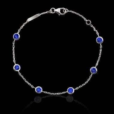 Bracelet saphir bleu Galets