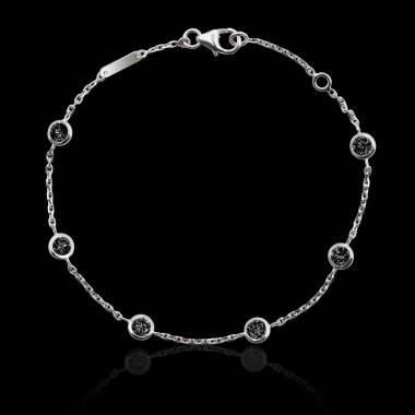 Bracelet diamants noir Galets