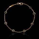 Bracelet diamants noir Galets