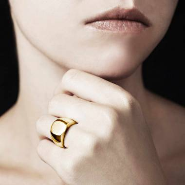 Chevalière femme or jaune Maxence