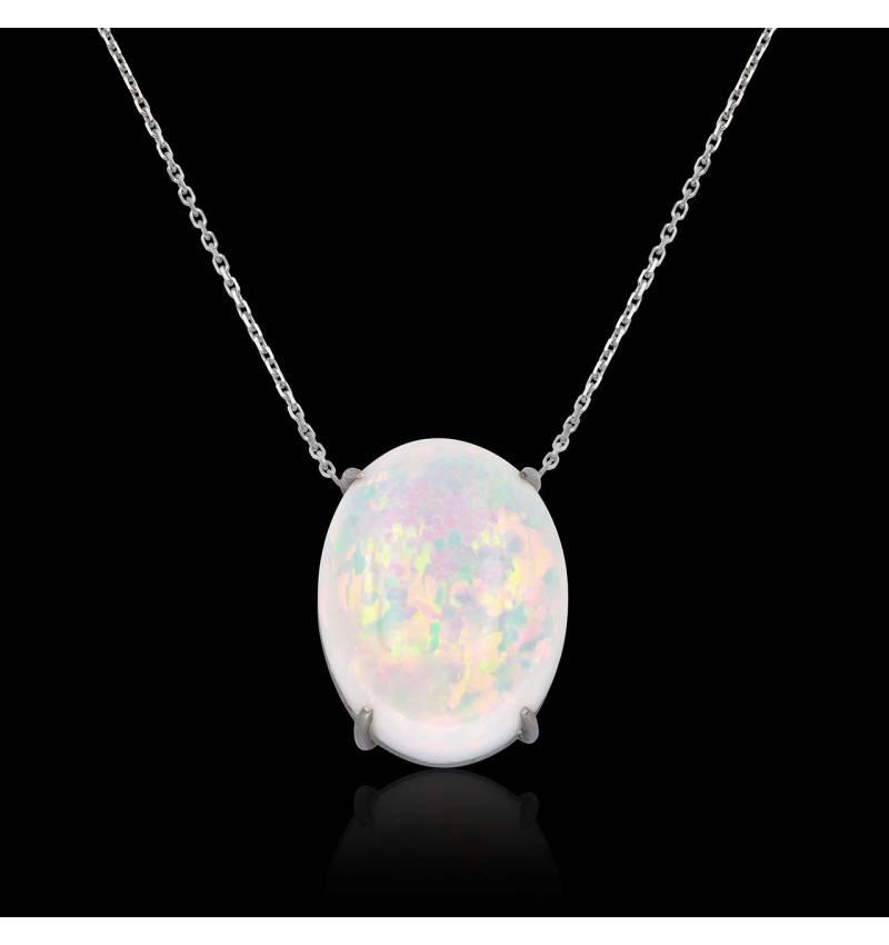 Pendentif opale blanche Around Me