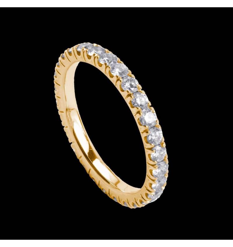 Eve 18K金钻石镶嵌婚戒
