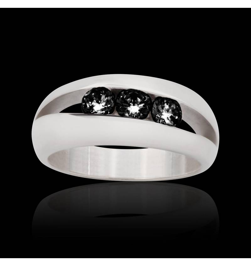 Bague diamant noir Amélie