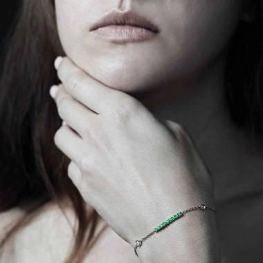 Bracelet émeraude Barrette