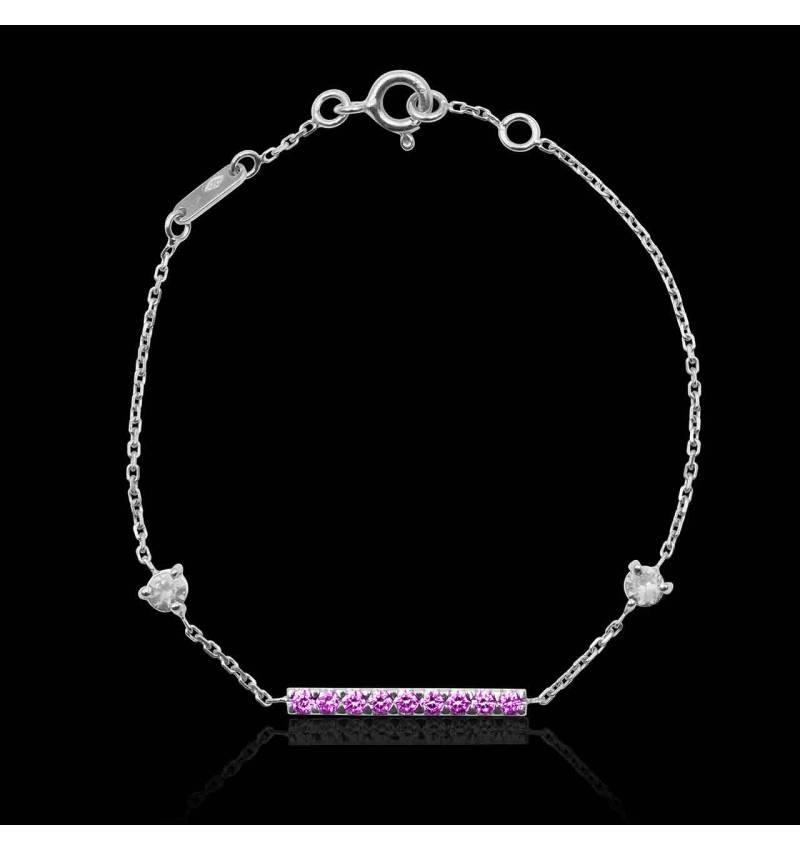 Bracelet saphir rose Barrette