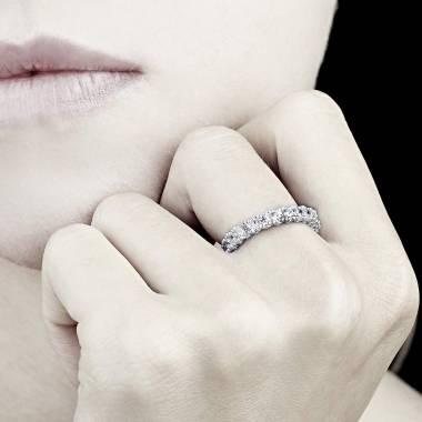 木星 白K金结婚对戒 镶嵌钻石