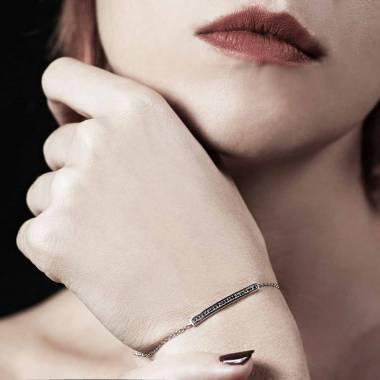 Bracelet diamant noir Pavé