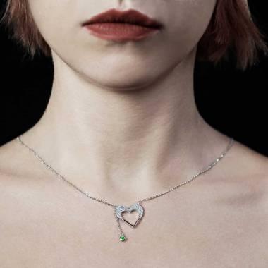 Pendentif émeraude Coeur d'Amour