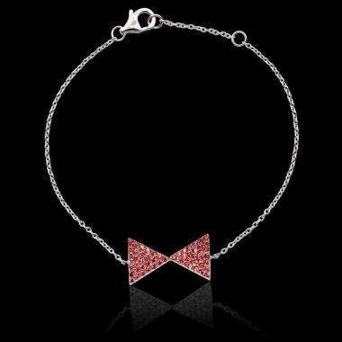 Bracelet rubis Noeud Papillon