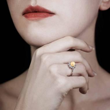 Bague perle gold Ambrosia