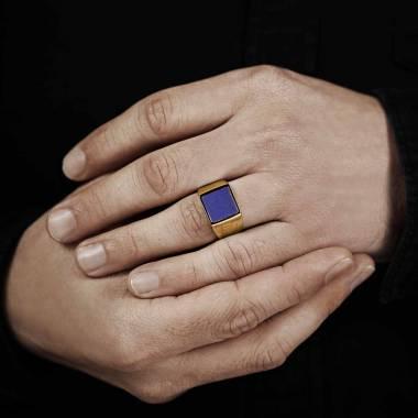 男⼠ 18K玫瑰金印章戒指-亚当 10.7*10.7