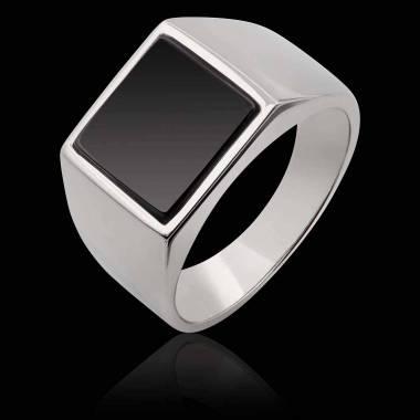 女士 18K白金印章戒指-亚当 10.7*10.7