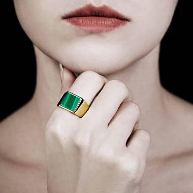 女士 18K金印章戒指-亚当 10.7*10.7