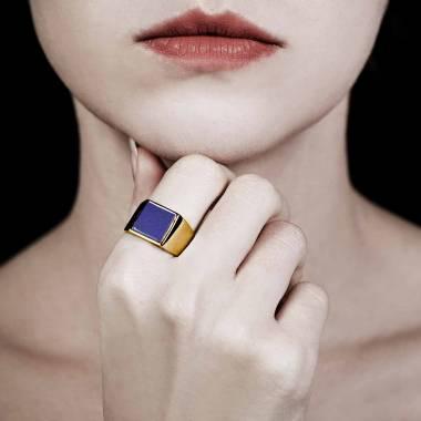 女士 18K玫瑰金印章戒指-亚当 10.7*10.7