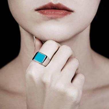 女士 铂金印章戒指-亚当 10.7*10.7