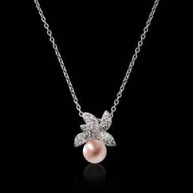 Pendentif perle rose Céleste