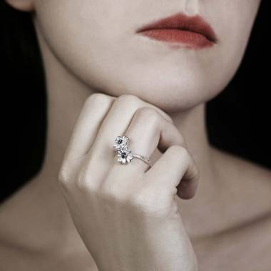 Bague diamant noir Mya
