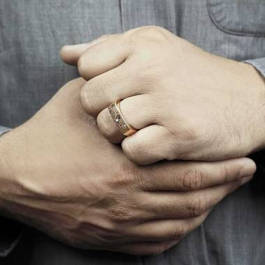 copy of Bague homme Or...