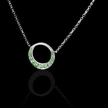 月光祖母绿项链