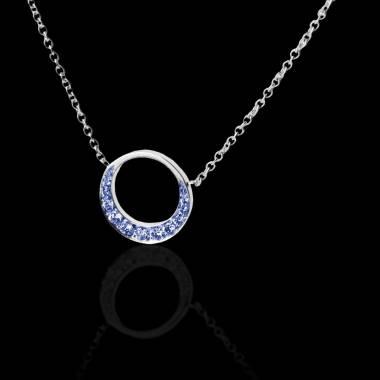 月光蓝宝石项链