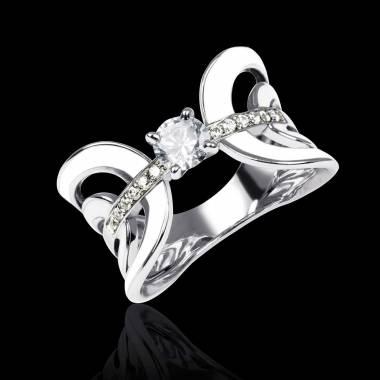 Corset 上漆钻石戒指
