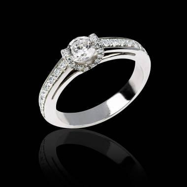 Hera白18K金 群镶钻石 钻戒