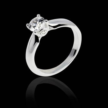 Motherhood白18K金 单颗钻石戒指