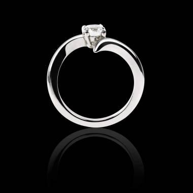 蛇纹 K金钻石订婚戒指