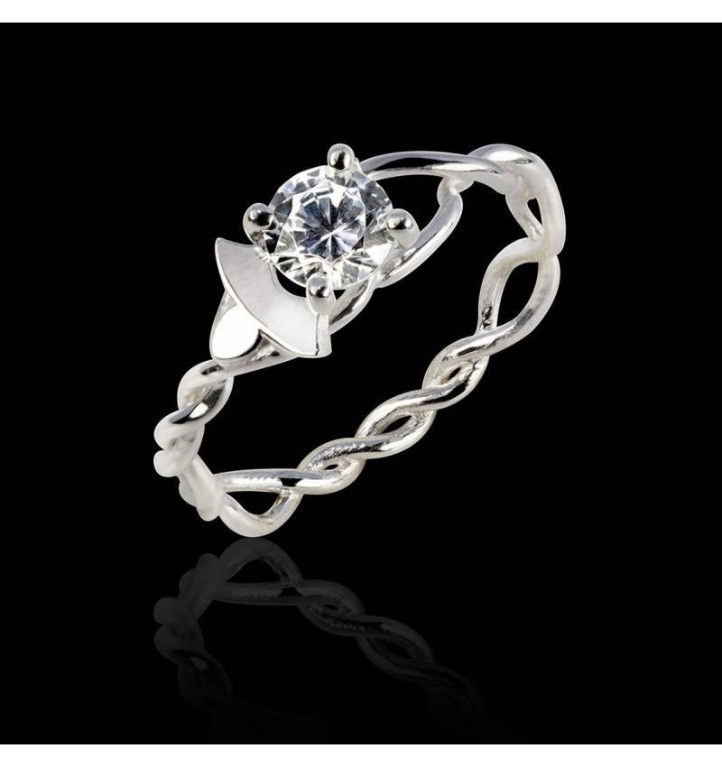 Vigne K金钻石订婚戒指