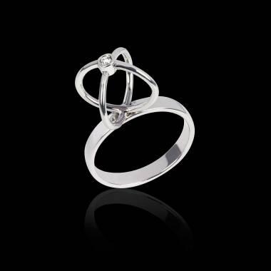 Cage k金钻石戒指