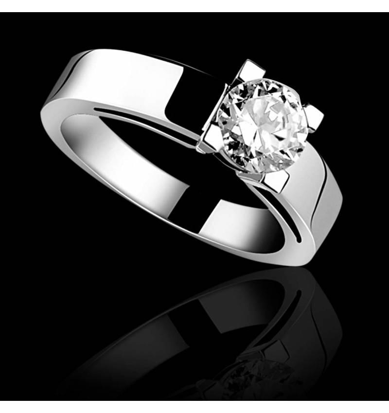 Céline K金单颗钻石戒指