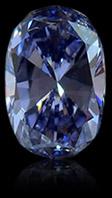 蓝色合成钻石