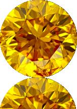 橘色合成钻石